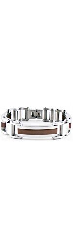 Stainless Steel Double Link Bracelet With Immerse Plating