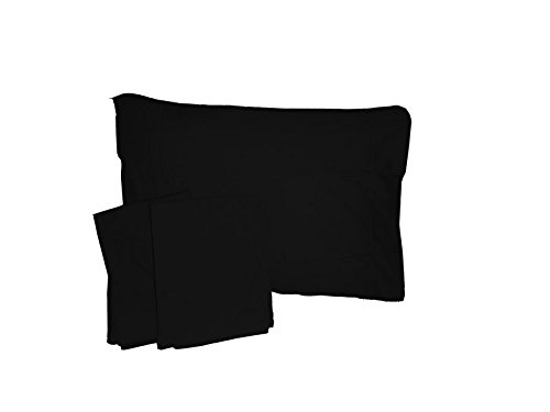Baby Doll Solid Crib/ Toddler Bed Sheet Set, Black - 1
