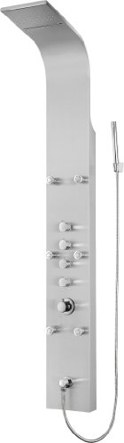 "Learn More About Blue Ocean 64.5"" Stainless Steel SPS8879 Shower Panel with Rainfall Shower Hea..."