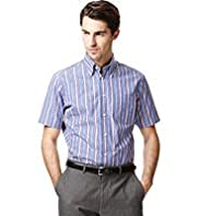 Collezione Pure Cotton Short Sleeve Striped Shirt