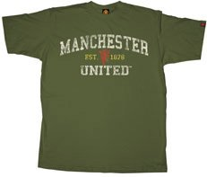 Manchester United Soccer Futbol UK League Tee