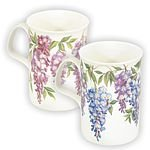 Wisteria Tea Mugs, Set Of 2, Made In England In Gift Box
