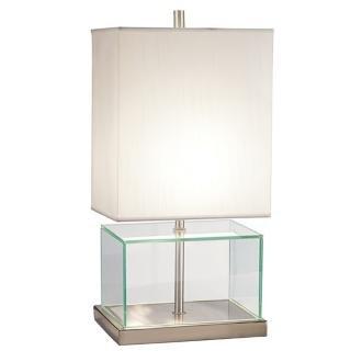 fillable glass block table lamp 050276945314. Black Bedroom Furniture Sets. Home Design Ideas