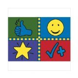 "Joy Carpets Kid Essentials Early Childhood Motivation Mat Rug, Multicolored, 5'4"" x 7'8"" - 1"
