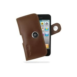 PDair Horizontal Pouch Leather Case for Apple iPhone 4 / 4S