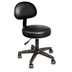Nrg Rolling Stool W/Removable Backrest Black front-792363