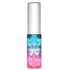 ヒロセ アトマイザー リボン アトマイザー アルミキャップ グラデーションカラー プラスチックポンプ 58206 (ブルー ピンク)
