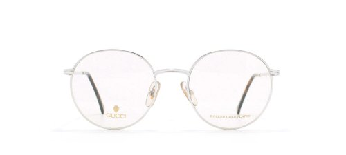 Gucci 1273 02K Silver and Brown Authentic Men - Women Vintage Eyeglasses Frame 1