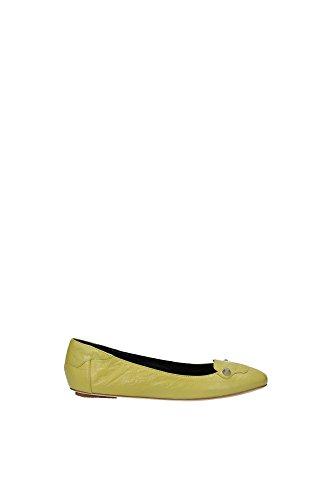 ballerinas-balenciaga-damen-leder-gelb-poissin-340942wad407330-gelb-39eu