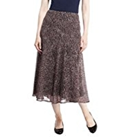 M&S Collection Animal Print Long Skirt