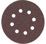 Bosch SR6R182 Random Orbit Sander Hook and Loop 6 Hole Disc 6-Inch 180 Grit Sand Paper, Red, 25-Pack