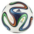 Adidas Performance Brazuca Top Glider Soccer Ball, White/Night Blue/Multicolor, 5 front-955002