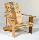 Colorado State University Logo Adirondack Chair 23 inch Seat Width