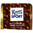 Ritter Sport, Milk Chocolate with Whole Hazelnuts, 3.5-Ounce Bars (Pack of 10)
