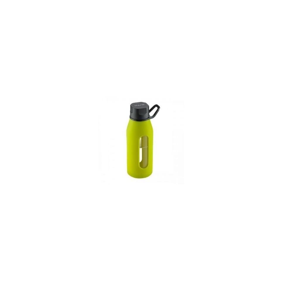 Glass Water Bottle 16oz Green