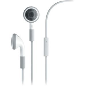 Genuine Oem Stereo Headset W/ Microphone For Apple Iphone 3G (White)