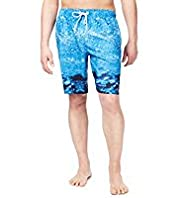 XXXL Blue Harbour Bubble Print Quick Dry Swim Shorts