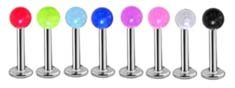 8 Bright Uv ball Labret Monroe lip targus body jewelry piercing bar Ring Rings 16g