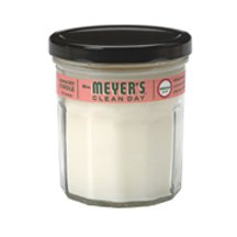 Mrs Meyers Clean Day Geranium Soy Candle, 7.2 Ounce -- 6 per case.