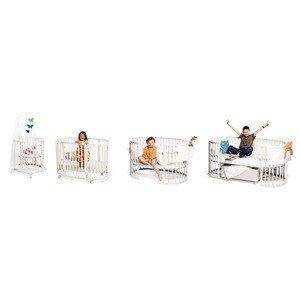 Stokke Sleepi Crib & Mini System L - White (Includes: 2 Mattresses, 1 Drape Rod) front-993802