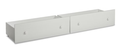 White Bunk Bed Twin Over Full 1386 front