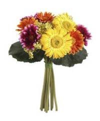 Allstate FBQ242-MX 10 in. Gerbera Daisy Bouquet Mixed- Pack of 6