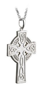Double-sided Large Celtic Cross Necklace