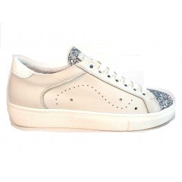 TOSCA BLU SS1607S133 ARGENTO CORNIOLA sneaker donna in pelle - White, EUR 38
