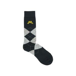 Buy Minnesota Golden Gophers For Bare Feet Argyle Dress Sock by For Bare Feet