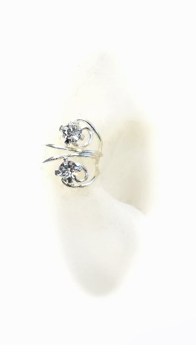 Pierceless Ear Cuff with Rhinestones by Earlums