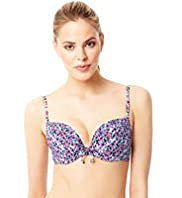 Underwired Push-Up Spotted Bikini Top