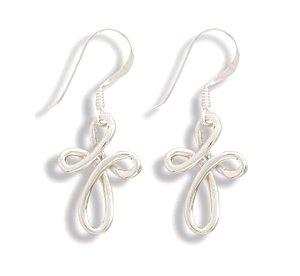 Woven Cross Earrings