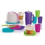 tupperware-11pc-mini-party-set-multi-colors-cake-taker-tumblers-plates-pitcher