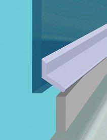 Croydex Universal Shower Door Seal Kit, 100 cm