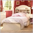 South Shore Summer Breeze Twin Bookcase Headboard and Storage Bed in Vanilla Cream