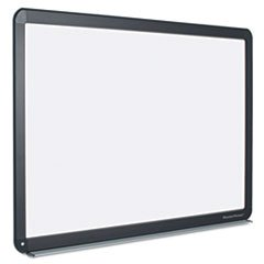Mastervisiontm Interactive Magnetic Dry Erase Board, 70 X 52 X 1 1/4, White/Black Frame