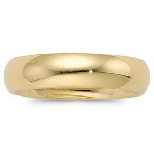 Genuine IceCarats Designer Jewelry Gift 10K Yellow Gold Wedding Band Ring Ring. 06.00 Mm Comfort Fit Band In 10K Yellowgold Size 7.5