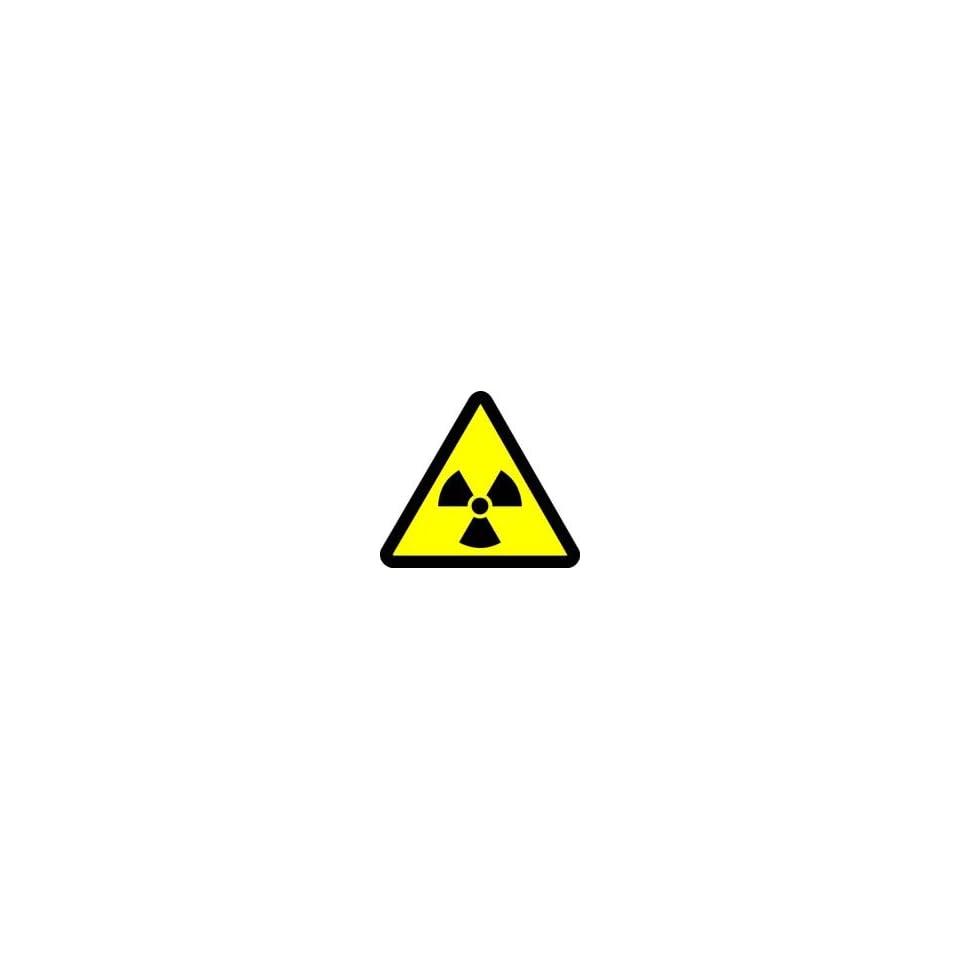 WARNING Labels RADIOACTIVE MATERIAL HAZARD 2 Adhesive Dura Vinyl