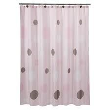 tiddliwinks shower curtain mod pink brown