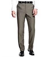 Active Waistband Flat Front Regular Fit Travel Trousers