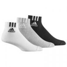 3 pairs ADIDAS Quarter Socks Mens MIXED Pack Size S M L Cotton Running athletic