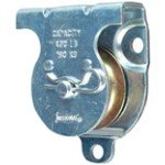 """National Hardware 3219BC 1-1/2"""" Zinc Plated Wall/Ceiling Mount Single Pulley"""