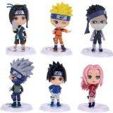 "Naruto Figures 6pcs Set 2.5"" PVC Shippuden Kakashi Haruno Sakura Toys Lot - 1"