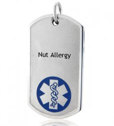 Medical Dog Tag (Large Blue) Nut Allergy