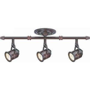 Hampton Bay 3-Light Antique Bronze Ceiling Bar Track Lighting Kit