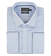 2in Longer Performance Pure Cotton Non-Iron Twill Striped Shirt