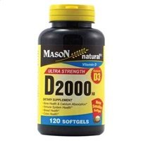 Mason Natural Vitamin D3, 2000 IU, Softgels, 120 ea цена 2017