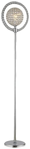 Whse of Tiffany FL6810 Disco Crystal Ball Floor Lamp