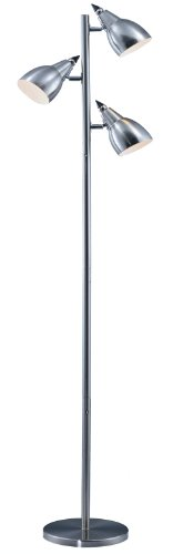 Park Madison Lighting PMF-4653-16 65-1/2-Inch Tall Incandescent Tree Floor Lamp with Fully Adjustable Shades, Satin Nickel Finish