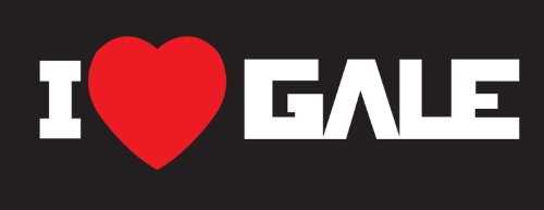 Hunger Games I Heart Gale Sticker Decal. White and Red
